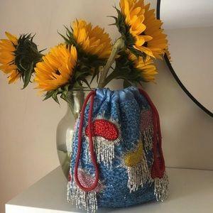HVISK sequin beaded colors pouch drawstring bag